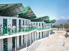 La Référence de Ganthier School / Studio PHH Architects | ArchDaily Image Facebook, Studio, Architecture, Building, Outdoor Decor, Home Decor, Gallery, Arquitetura, Decoration Home