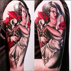 Tamara de Lempicka art tattooed by Amanda Wachob