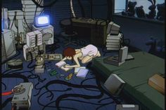 We go back to the to look at Serial Experiments Lain. In a way Serial Experiments Lain predicted the future with a frightening degree of accuracy. Pokemon Go, Serial Experiments Lain, Mama Memes, Cyberpunk Anime, Dark Souls 2, Dark City, Cult, Cowboy Bebop, Anime Screenshots