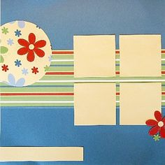How to hand stitch on scrapbook pages.: Create Your Background Layout