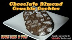 EASY Chocolate Almond Crackle Cookies Recipe