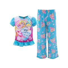 be058d7f1b23 Disney Girls Palace Pets Blue Pajama Set Size 4