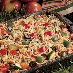 California Pasta Salad Recipe  ---   GREAT for COOKOUTS    ---   http://www.tasteofhome.com/Recipes/California-Pasta-Salad