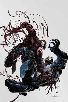 Venom vs Carnage by Clayton Crain