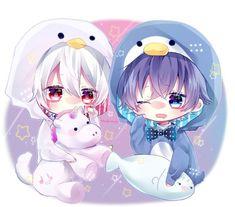 after the rain Anime Neko, Cute Anime Chibi, Kawaii Chibi, Kawaii Anime Girl, Kawaii Cute, Anime Guys, Manga Anime, Anime Art, Gifs Kawaii