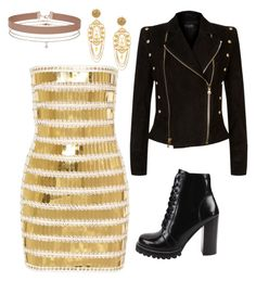 """""""#54"""" by cecilie-monica-nrskov-pedersen on Polyvore featuring Balmain, Jeffrey Campbell, Miss Selfridge and Dolce&Gabbana"""