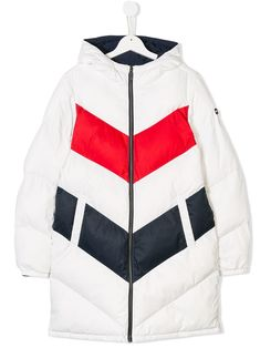 eca09f0d7 Tommy Hilfiger Junior TEEN reversible colour blocked coat