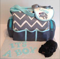 Pastel de una mochila para guardar cosas del bebe