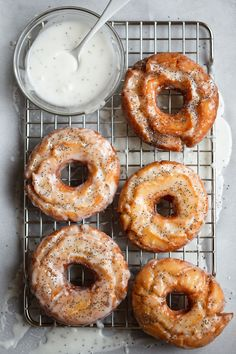 lemon poppy seed old fashioned donuts