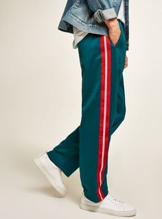Teal Taping Poly Tricot Joggers #ad #men #fashion #shopping #outfit #inspiration #style #streetstyle #fall #winter #spring #summer #clothes #accessories