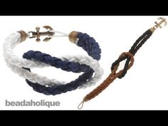 How to Make a Knotted Round Braid Anchor Bracelet