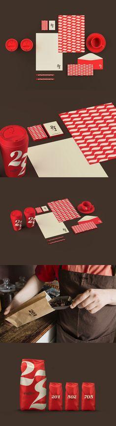 Type & Coffee identity by Renan Vizzotto, via Behance