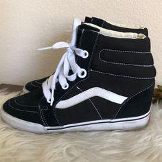 d210703e126 Vans Shoes | Vans Hi Sk8 Old Skool Wedge Heel Sneakers | Color: Black/
