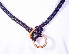 Auburn Gresham Necklace in Black Cowshide, 32 Inch — Sample Sale