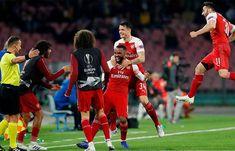 Napoli Arsenal agg): Alexandre Lacazette's seals Gunners a Europa League semi-final spot Arsenal Goal, Arsenal Shirt, Arsenal Players, Football Results, Soccer Predictions, Carlo Ancelotti, Pierre Emerick, Free Kick, Semi Final