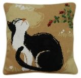cat tapestry cushion, i will make it with all four of my kitties