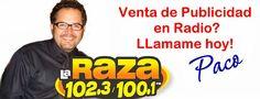 Atlanta La Raza 102.3 Radio Advertising. Mexican music La Raza 102.3. Para Publicidad en radio llamar a Paco.