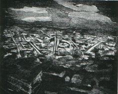 Mario Sasso ,acquaforte, su foglio cm. 50 x 70 (formato opera 25 x 31) ,tiratura 99/99  www.piziarte.net