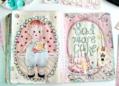 Everyday is a Holiday: Eat More Cake Art Journal Spread
