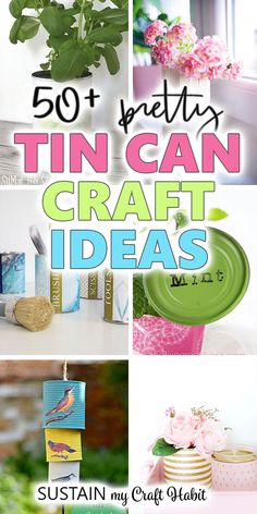 There are so many prettty and practical uses for upcycling tin cans. After looking at these creative tin can crafts, you'll never throw away another tin can! Aluminum Can Crafts, Tin Can Crafts, Crafts To Make, Crafts For Kids, Crafts With Tin Cans, Diy Crafts, Popsicle Stick Crafts, Craft Stick Crafts, Diy Craft Projects