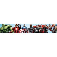 Avengers Prepasted Wall Border - Wall Sticker Outlet