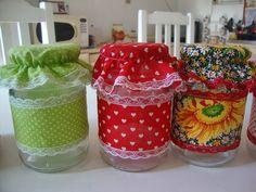 Artesanais & Cia: Reciclando Potes de Vidros!!!