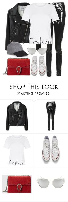 """Untitled #3012"" by elenaday on Polyvore featuring Acne Studios, Topshop, Calvin Klein, Converse, Gucci, Chicnova Fashion and Express"