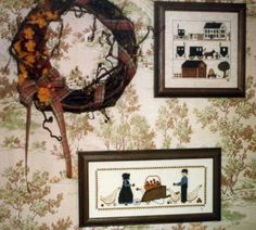 Early American Decor - Amish Counted Cross Stitch. - Lived in Amish country for 26 years.