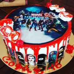Updates from EdibleCakePrint on Etsy Marvel Birthday Cake, Marvel Cake, Avengers Birthday, Wafer Paper Cake, Personalized Cakes, Superhero Cake, Have A Great Day, Birthday Decorations, Paper Flowers