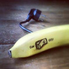 Coole Doodles auf Bananen