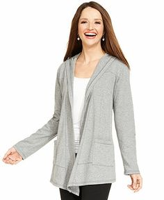 Style&co. Sport Open-Front Hooded Jacket - Active Jackets & Hoodies - Women - Macy's
