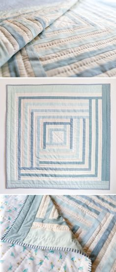 A fluffy flannel baby quilt. Buy the Campfire Quilt Pattern by Suzy Quilts