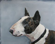 Gorgeous bull terrier painting