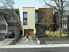Infill House in Ontario , great use of scale and rhythm of the street