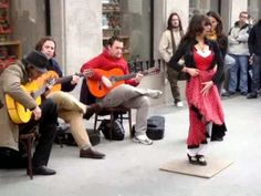 Flamenco on the Streets of Madrid ...my family heritage mother's side