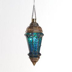 Blue Mosaic Lantern!! <3 love. would look great with our other lanterns.