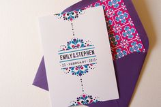 Mexican Color Palette wedding invitations