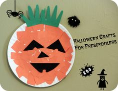 Halloween preschool craft - Paper plate craft for toddlers