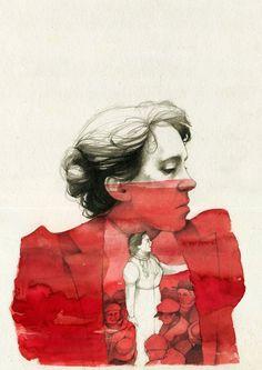 Emma Goldman 1910  The Traffic in Women (Emma Goldman by elia-illustration) https://www.marxists.org/reference/archive/goldman/works/1910/traffic-women.htm