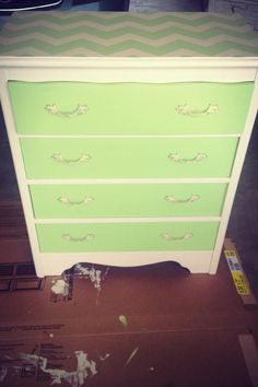 Refurbished chest of drawers.