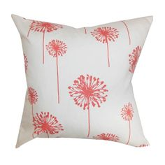 Dandelion Pillow - I have some fabric like this!!! It is super cute