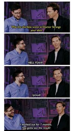 You gotta love Bennadict Cumberbatch (sry for spelling )