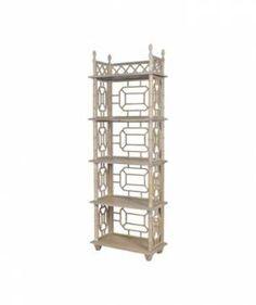 Small Lantana Carved Wood Bookshelf - Mecox Gardens #interiordesign #home #decor #design #furniture #MecoxGardens