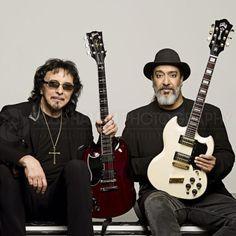 Black Sabbath's Tony Iommi and Soundgarden's Kim Thayil photographed in London, 2014, by Ross Halfin.
