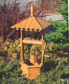 Zahradní dřevěná dekorace STUDNA | Zahradní dekorace | Fortel