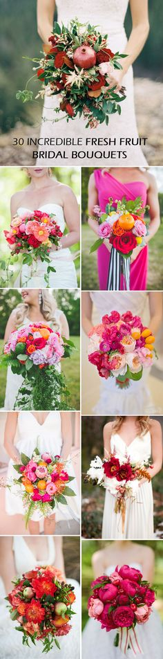 30 Incredible Fruit and Flower Bridal Bouquets