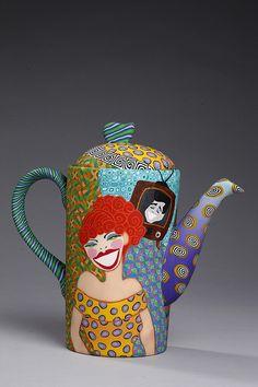 Lucy and Desi teapot by Wanda Shum
