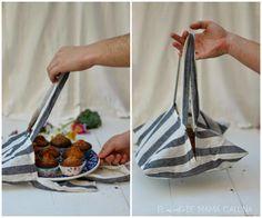DIY: Cómo hacer una bolsa para repostería con un paño de cocina