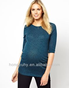 wholesale maternity clothes, cheap plain green t-shirts, solid t-shirt with 1/2 sleeve made in China 2014 OEM $5~$8