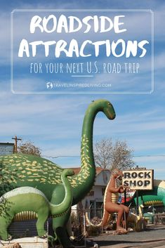 Make your road trips fun and unforgettable when you stop at these roadside attractions that are located throughout the United States. From Route 66 to the world's largest attractions you'll find something on this list for everyone to enjoy. #roadsideattractions #roadtripfun